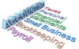 "Picture of word""accounting: with descriptive categories: taxes, financial statesments, etc."