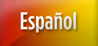 """espanol"" on red & yellow background."