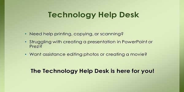 Technology Help Desk Activities