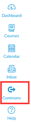 select the commons icon in canvas