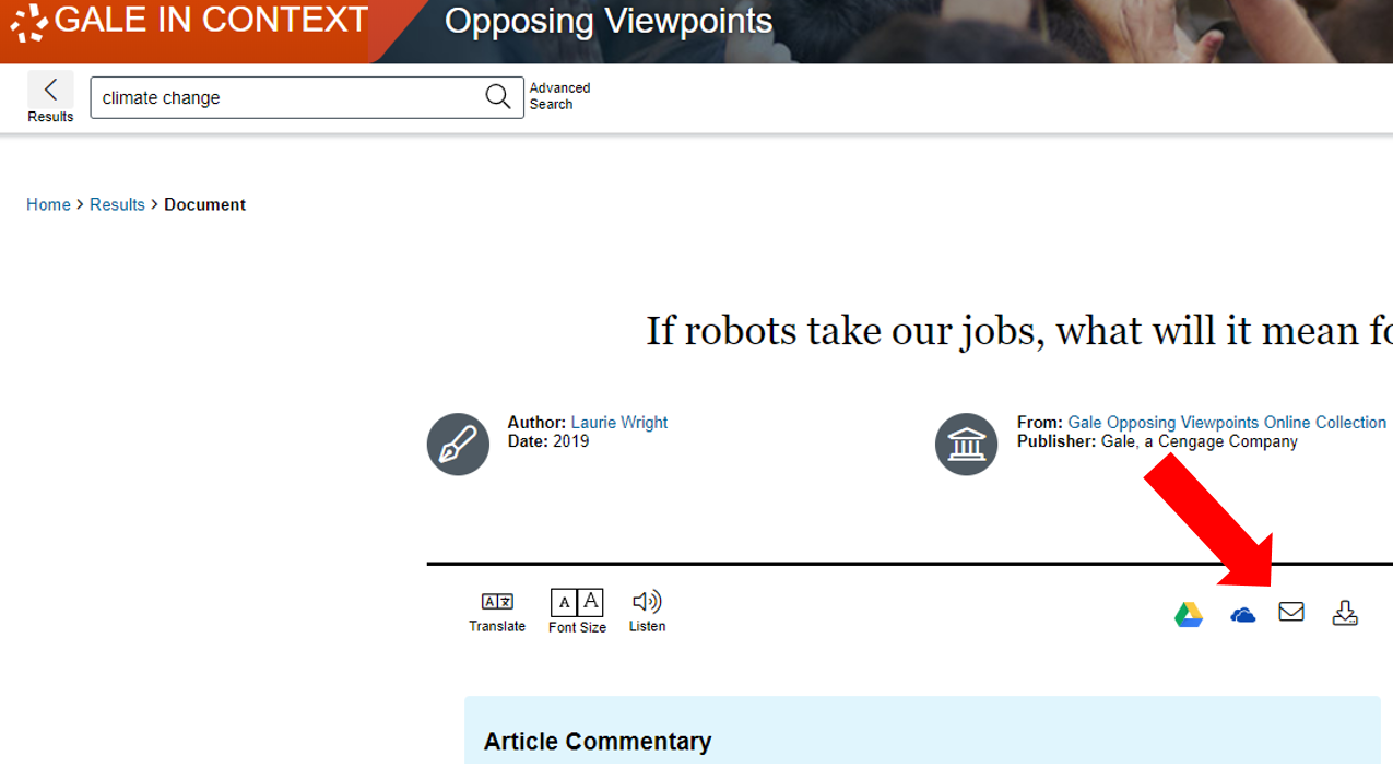 Opposing Viewpoints email