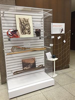 Indian artifacts exhibit case