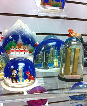 snow domes exhibit case