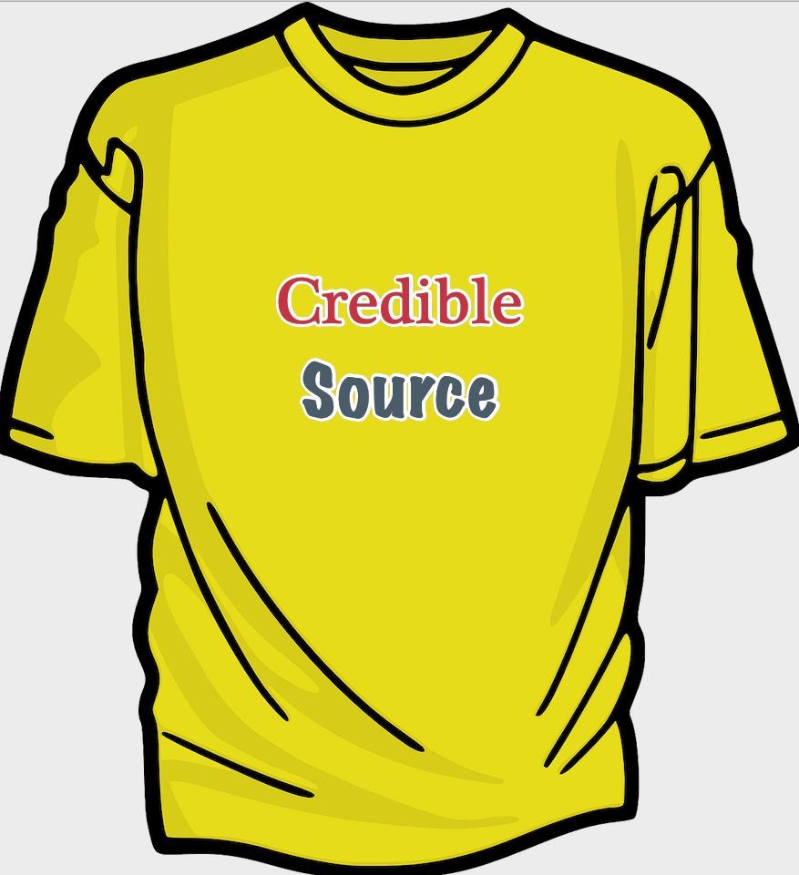 credible source t-shirt