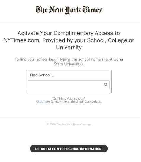 screenshot to find school in dropdown menu