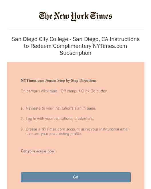 screenshot of instructions to redeem subscription