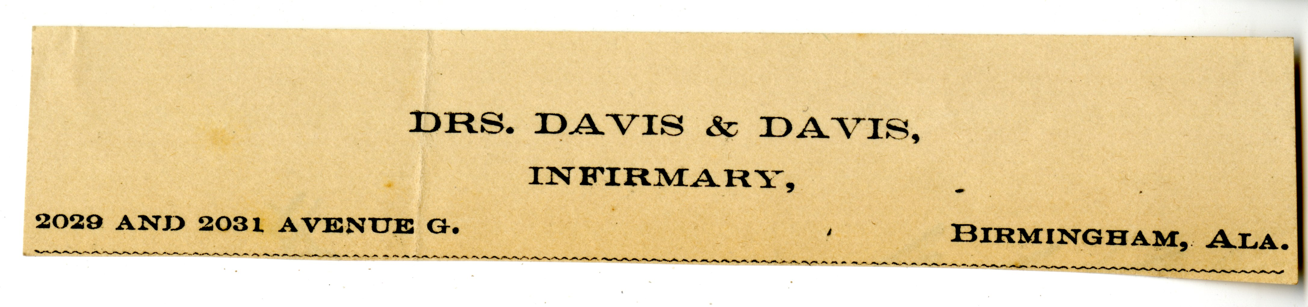 Davis & Davis Infirmary