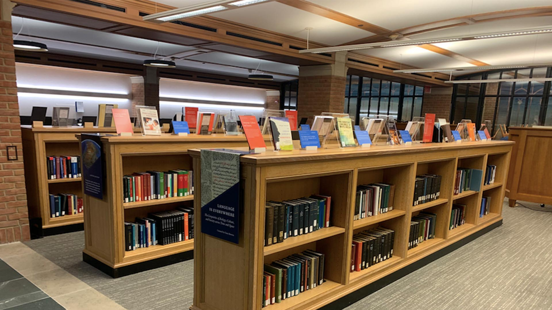 A photo of the Bass Library Model Research Collection.