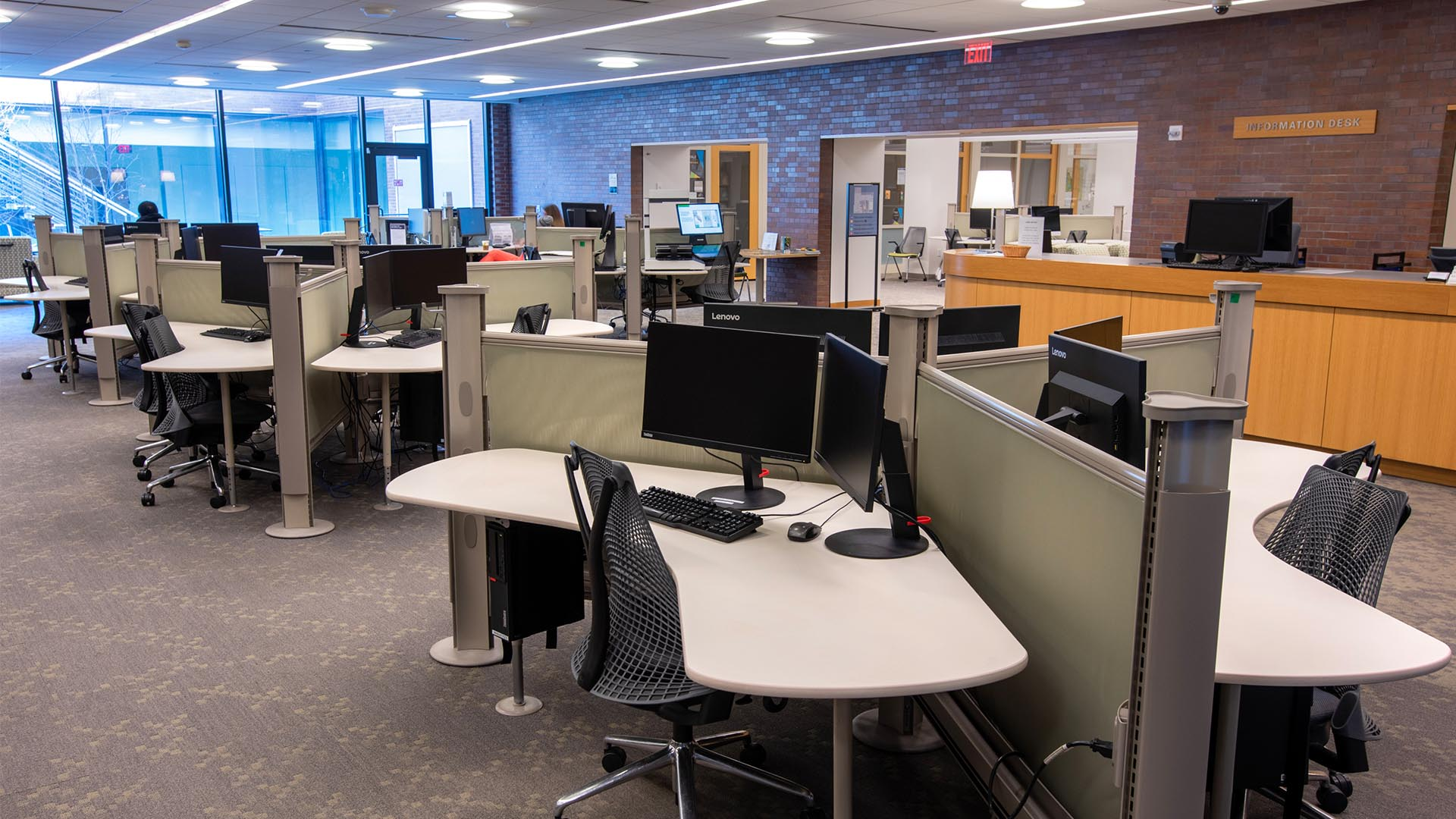 A photo of the study room in Marx Library.