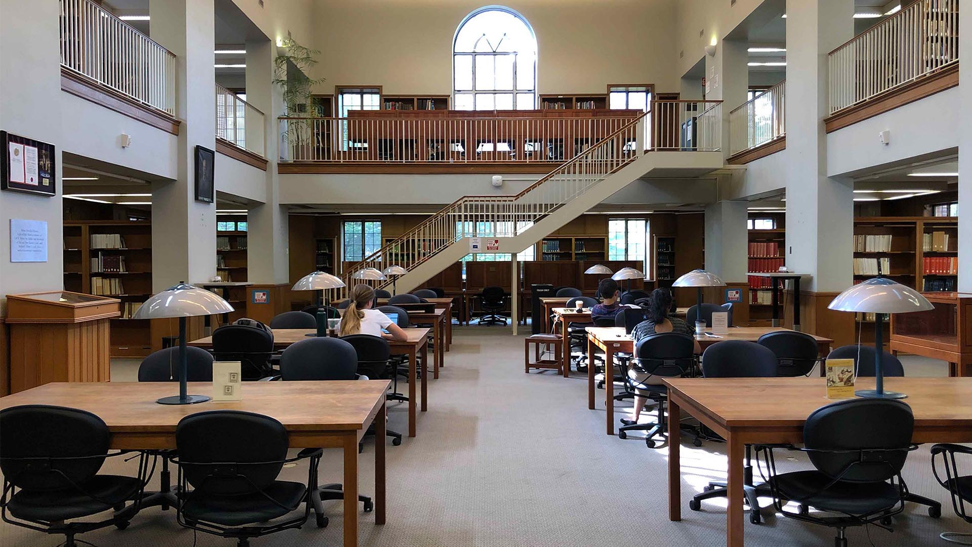 A photograph of the Morse Reading Room.