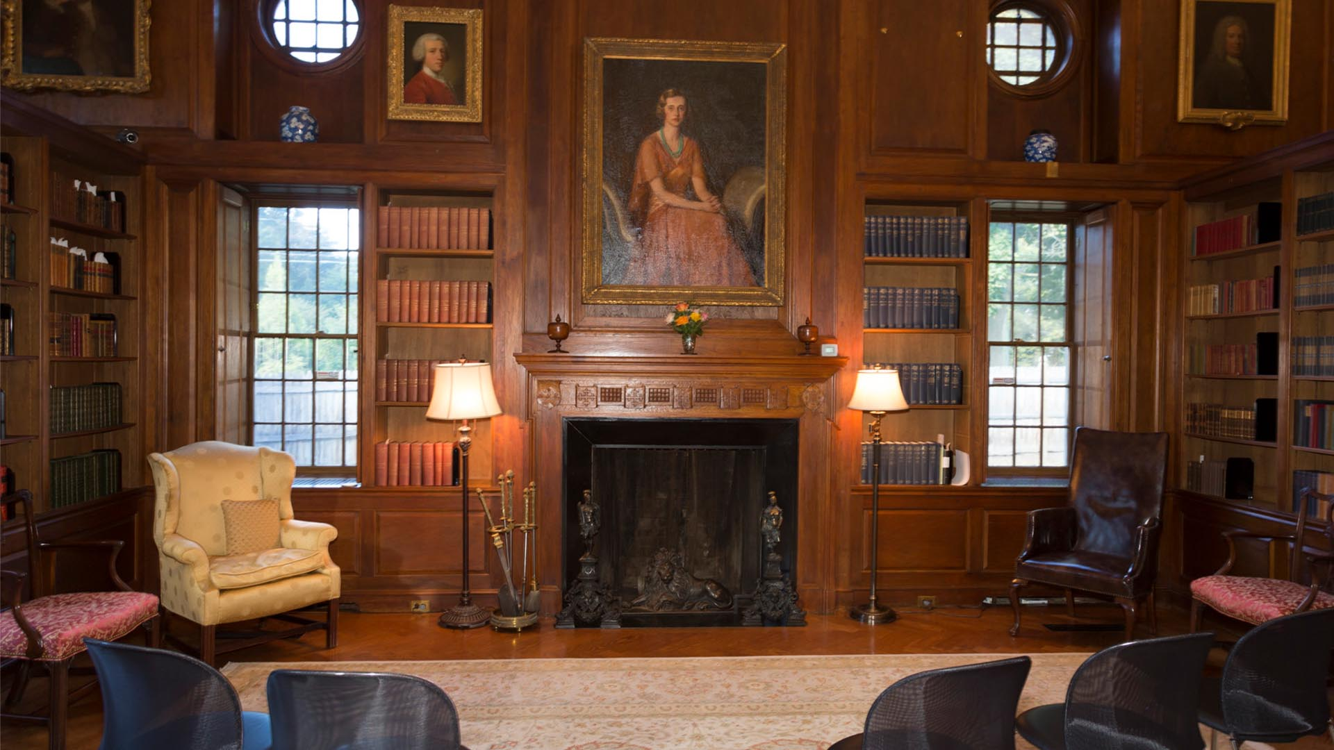 A photo of the inside of the Lewis Walpole Library.