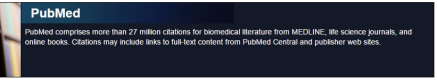 PubMed banner for PubMed@TU