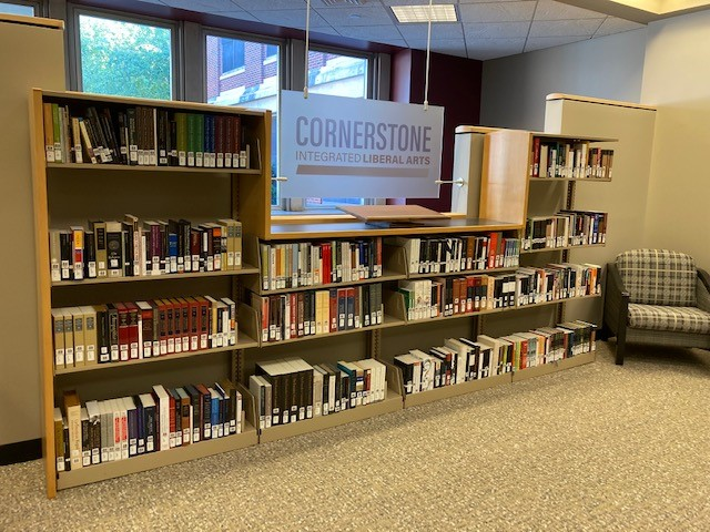 full shelves of the cornerstone collection