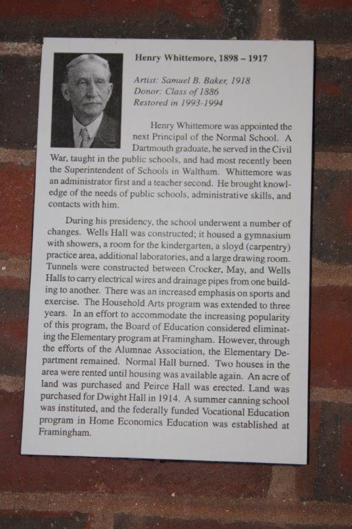 Picture of poster with picture of Henry Whittemore and text. Text also typed below.