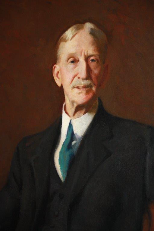 Portrait of Henry E. Whittemore. Dark suit, light tie. Fair hair. Mustache.