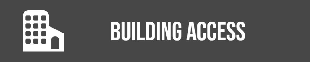 Building icon with words Building Access