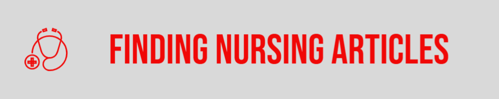 Finding nursing articles with a stethoscope icon