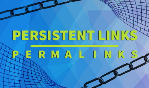 Persistent Links/Permalinks with chain link and digital details