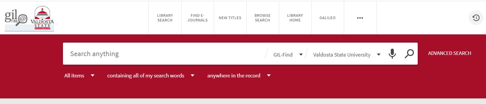 Simple search in library catalog