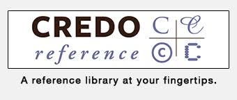 Logo of Credo Reference as a button.