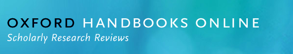 Oxford Handbooks Online logo as a button.
