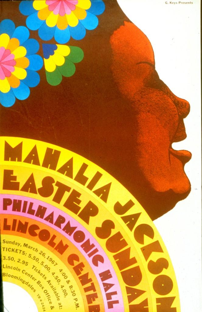 Milton Glaser, (graphic designer). (1967). Mahalia jackson.