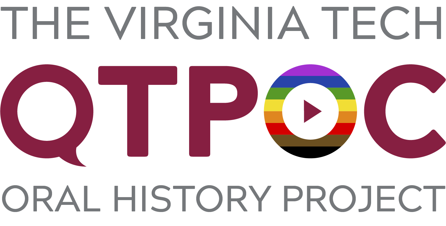 Graphical title for The Virginia Tech QTPOC Oral History Project