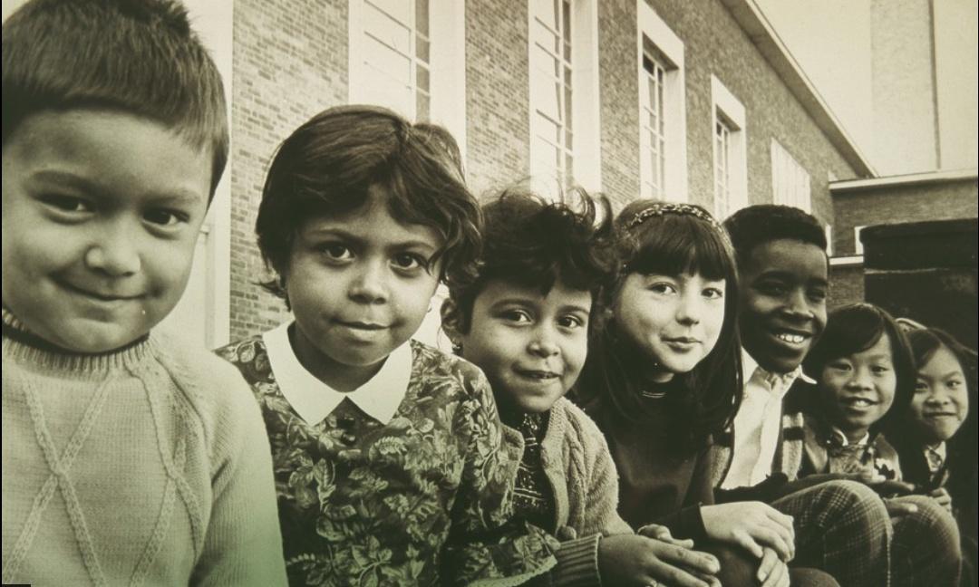 Children at Burns School, Hartford , 1971