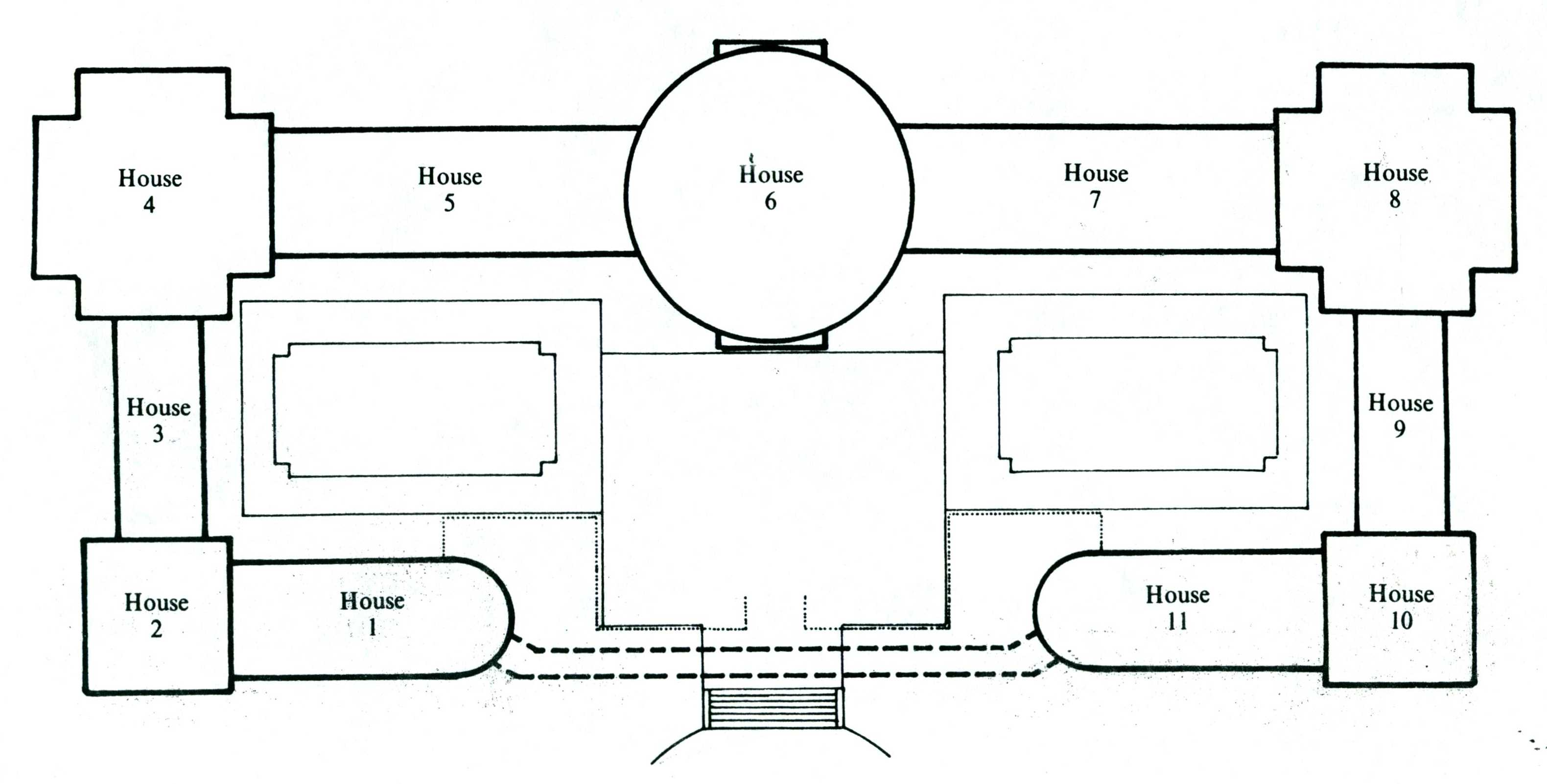 Layout of conservatory