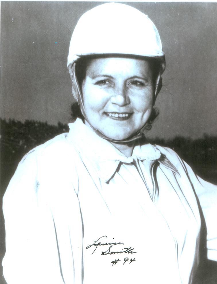 Louise Smith of Greenville, SC, raced 1946-1956. She is in the International Motorsports Hal of Fame