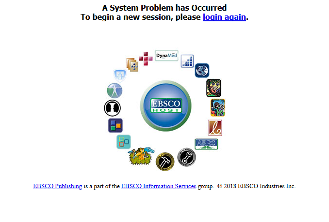 EBSCO logs you out!