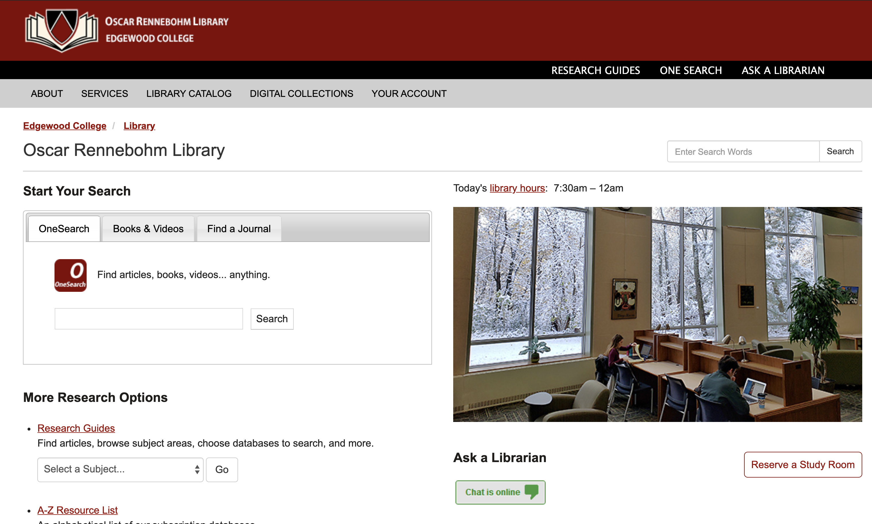 Edgewood College Library Homepage
