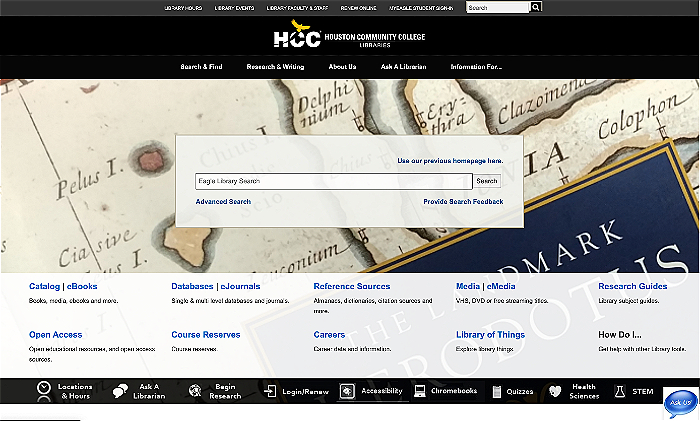 Houston Community College Library Homepage