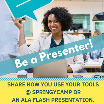 Be a Springshare Presenter and share how you use Springshare tools at SpringyCamp or ALA 2018