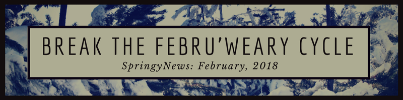 SpringyNews Break the Febru'weary Cycle newsletter