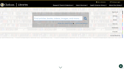 Clarkson University Library Homepage