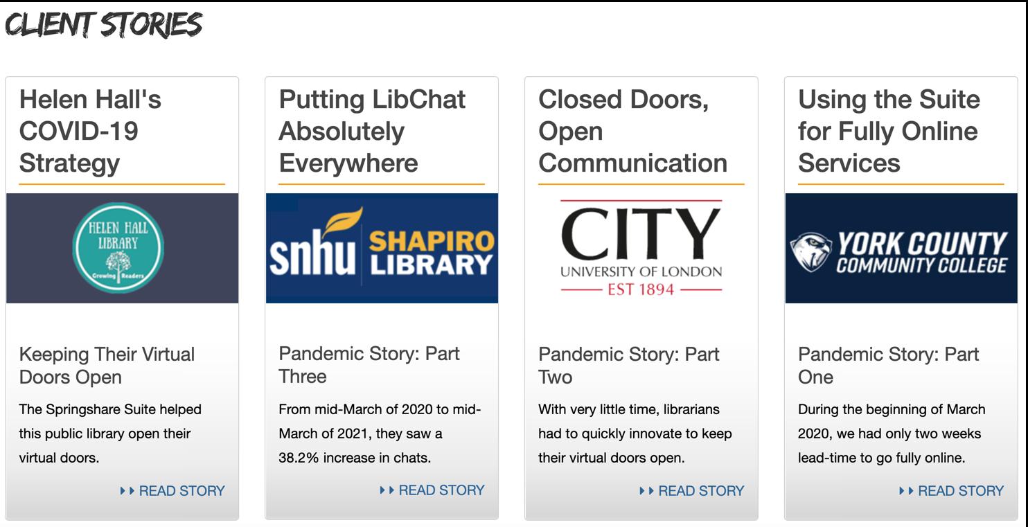 Browse client stories