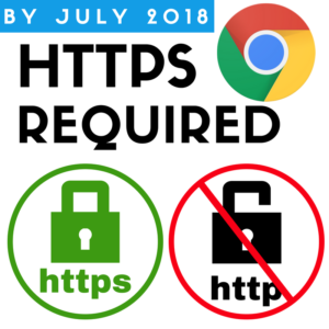By July 2018, HTTPS required on Chrome