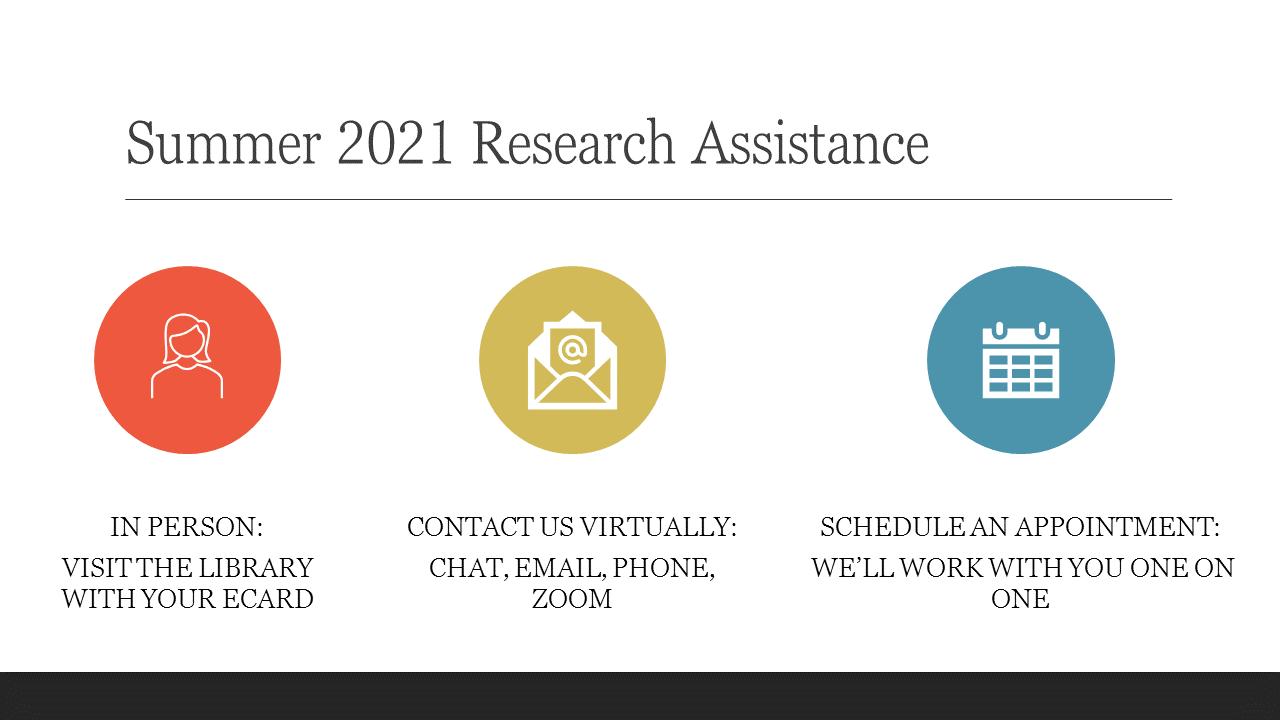 Contact the librarians over summer 2021 klibrary@esu.edu