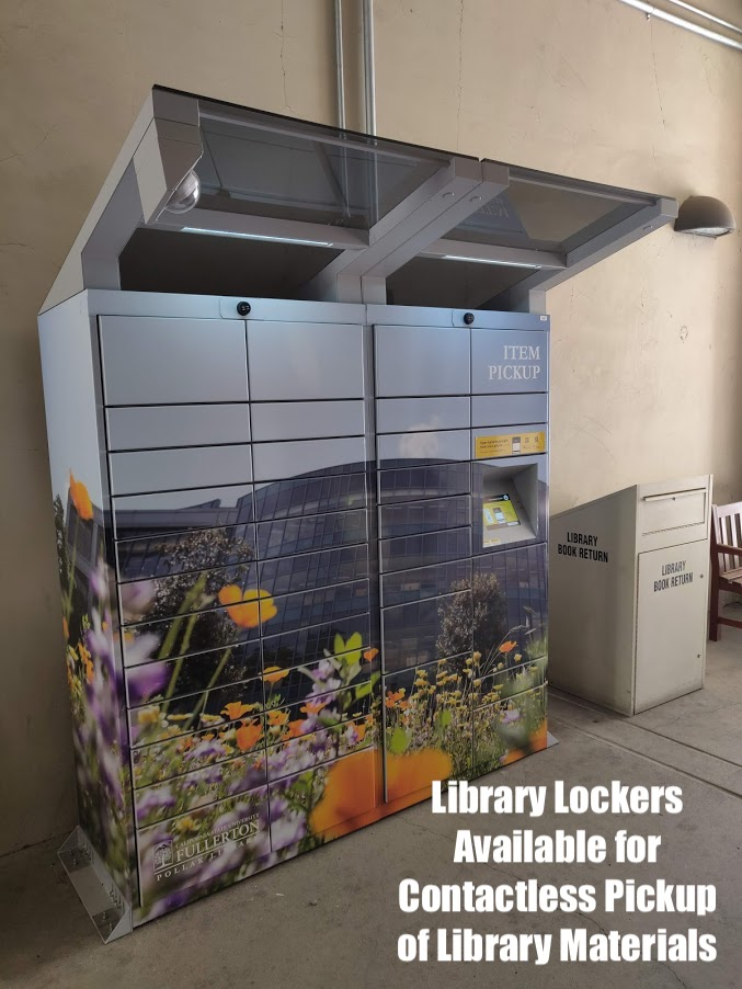 library lockers available for contactless pickup