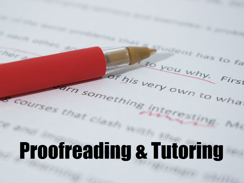 red pen proofreading and correcting paper