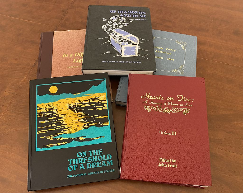 Examples of the hundreds of amateur poetry anthologies held by the Library of Congress.