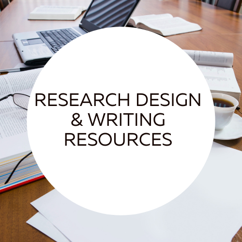 Research Design and Writing Resources.