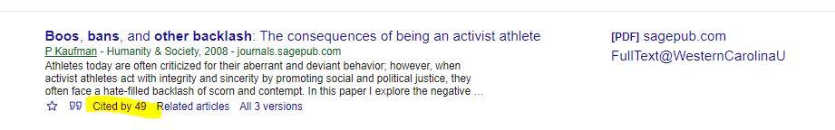 Google Scholar Screenshot.