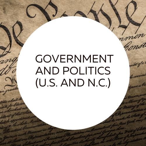 Go to U.S. and North Carolina Government and Politics guide.