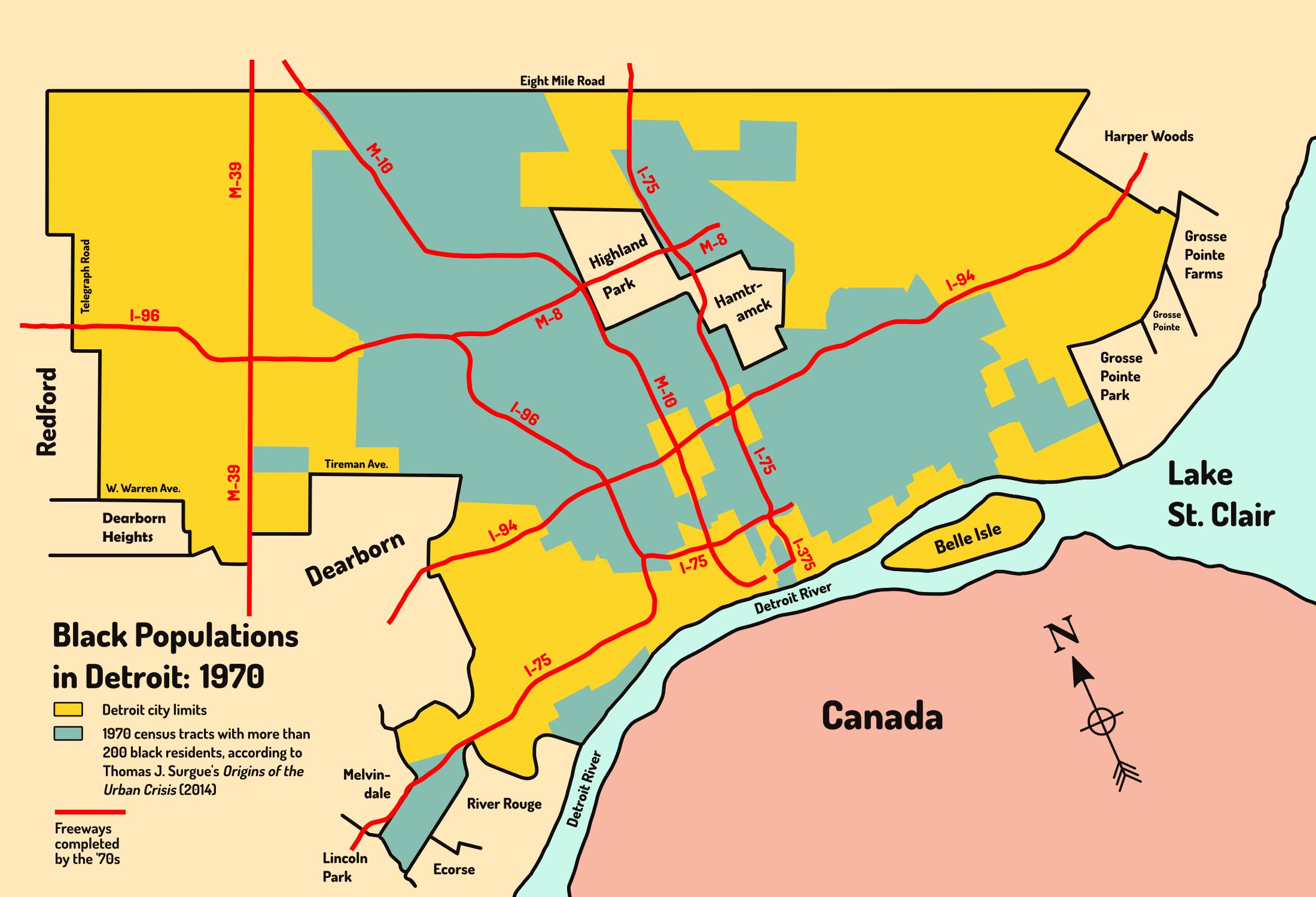 Detroit's Black Population: 1970