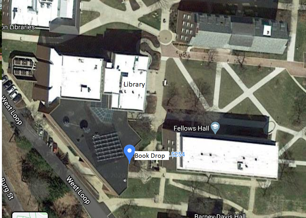 aerial map of library