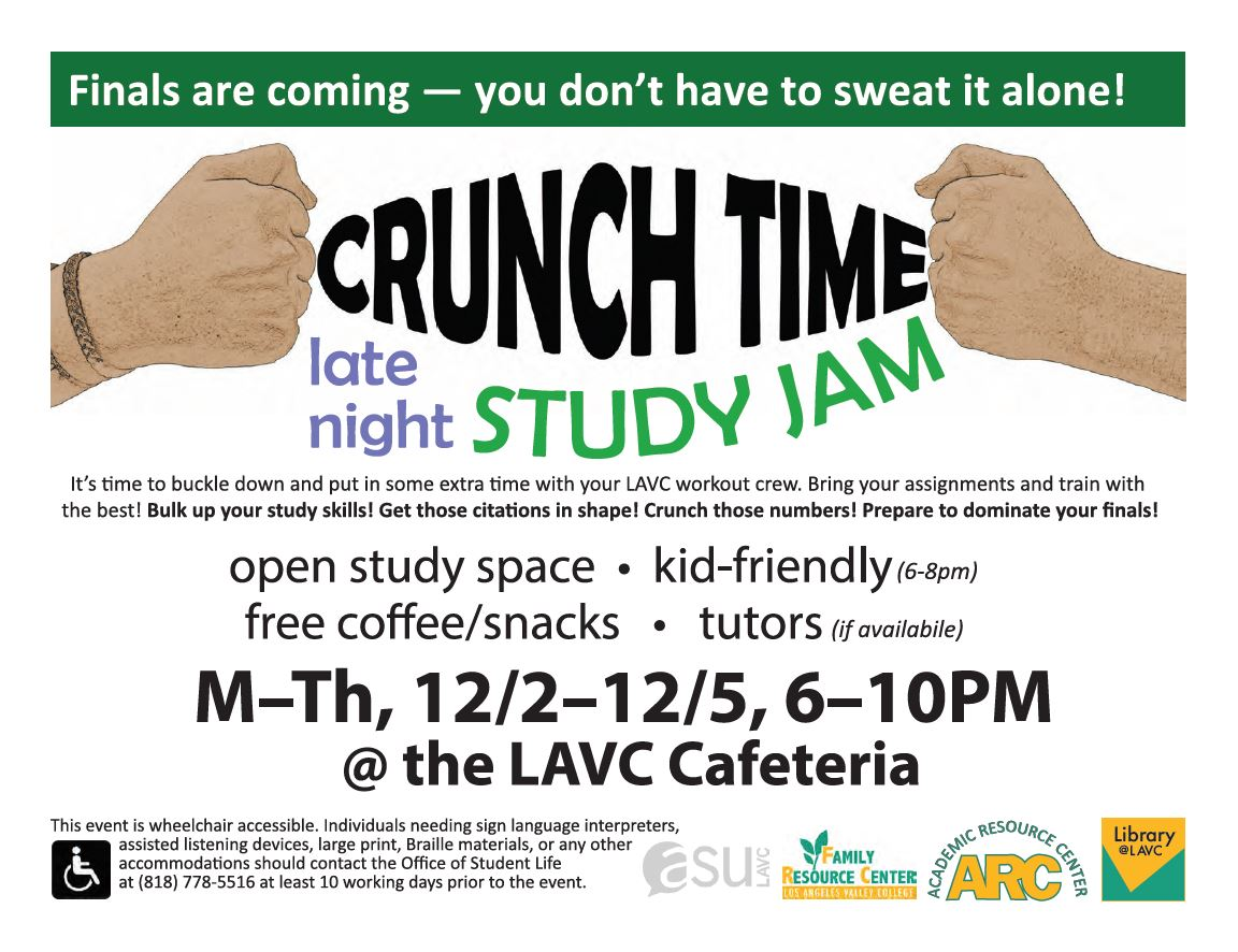 crunch time study jam flyer. accessible version linked below.