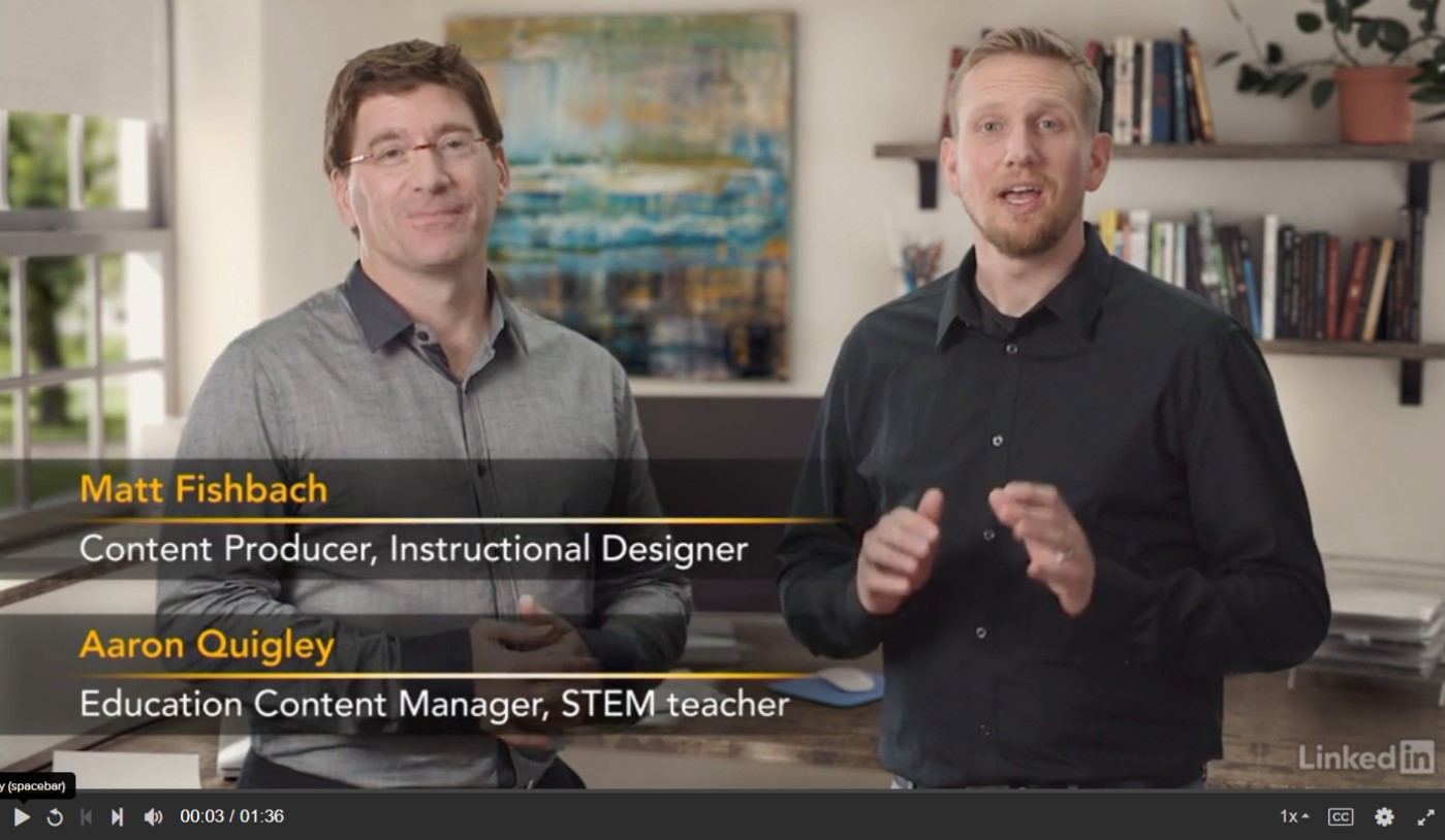 Matt Fishbach Content Producer, Instructional Designer Aaron Quigley Education Content Manager, STEM teacher