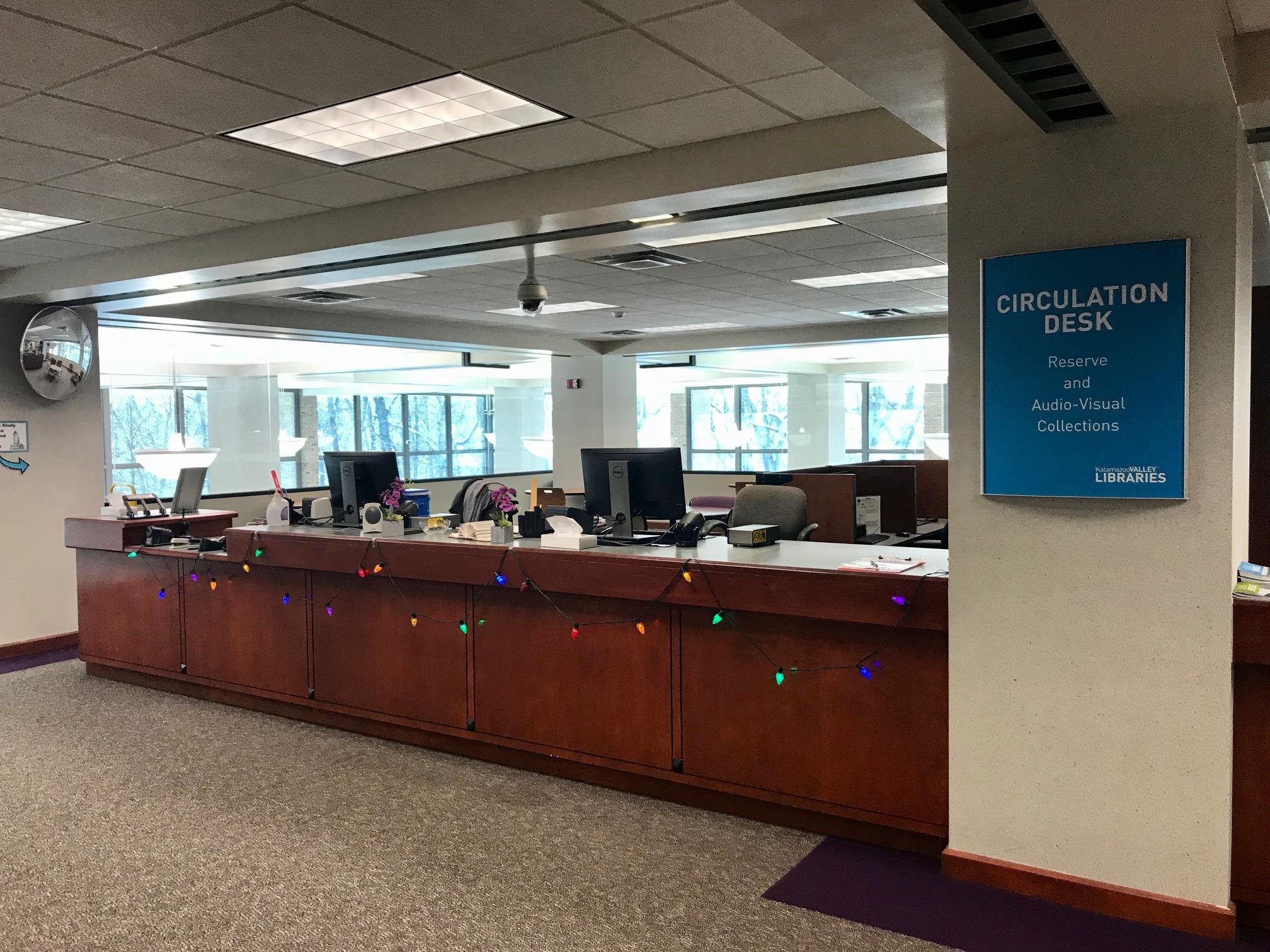 library reserve desk upper level ttc